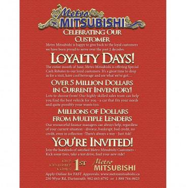 Mitsubishi Loyalty – 2013