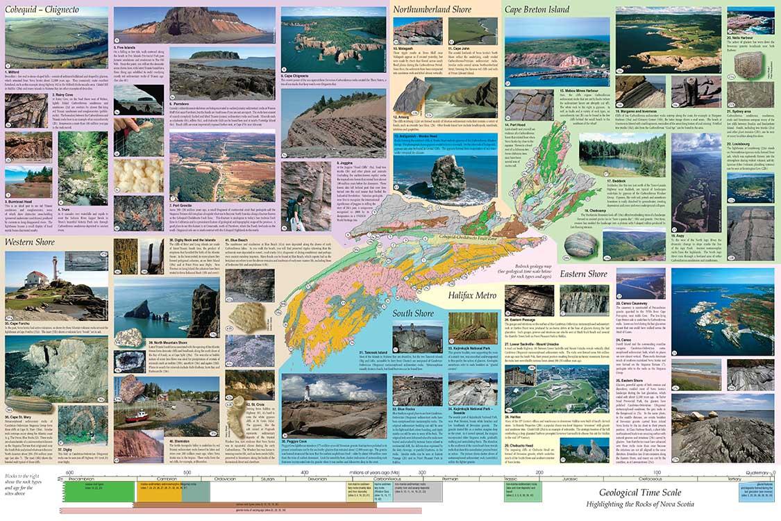 Key Geological features of Nova Scotia